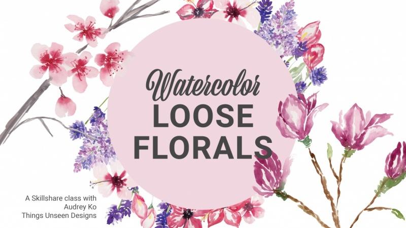 Watercolor Loose Florals (Part 2): Sample Project