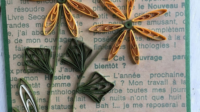 Sunflower Paper Quilling