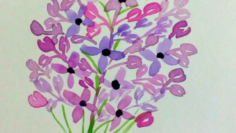 Watercolor Loose Florals