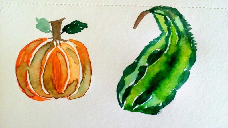 Watercolor Fall Elements