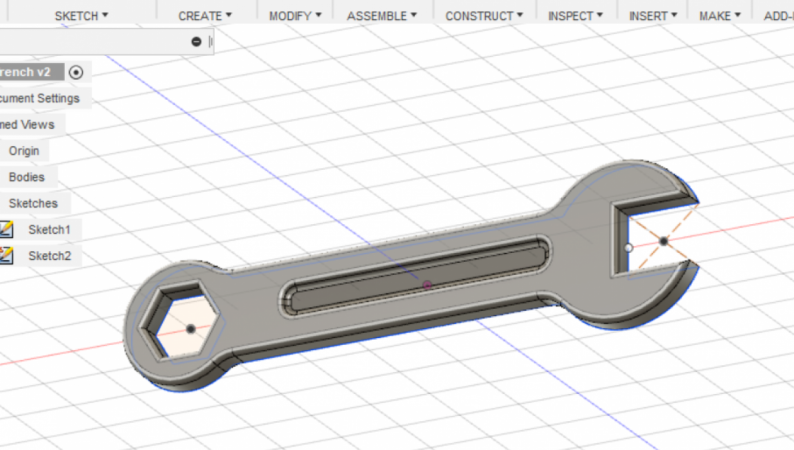 Fusion 360 for 3D Printing - Class 4 - Design a Wrench
