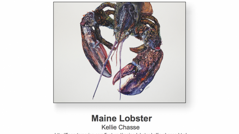 Selling 1000 of my Lobster Prints/Products