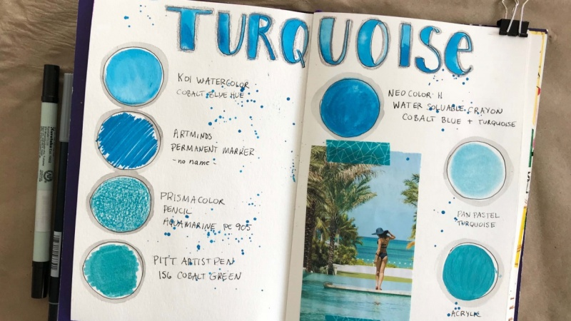 Page from my Color Journal