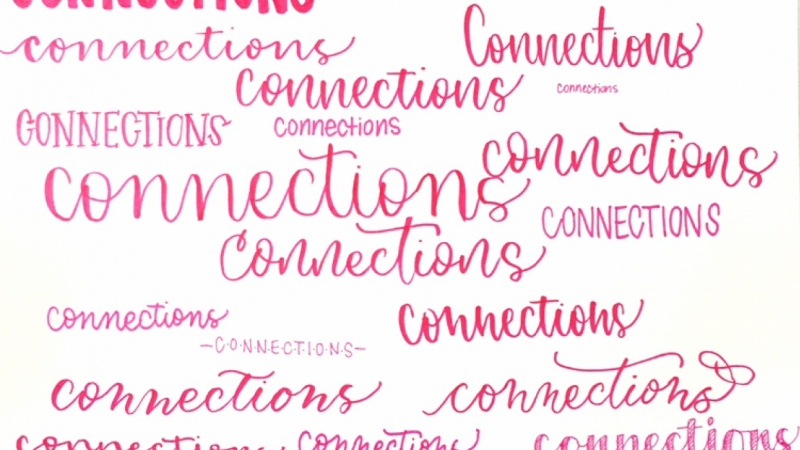 """""""Connections"""" Word Collage"""