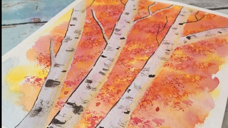 Birch Trees by @artbyjlan