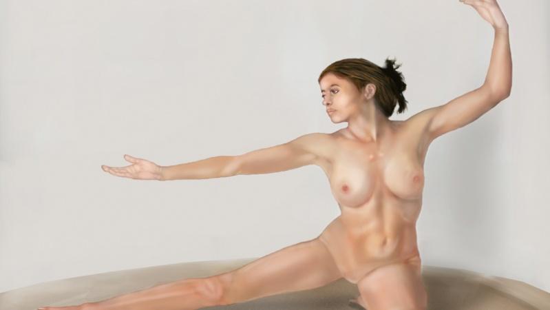 Art model painting