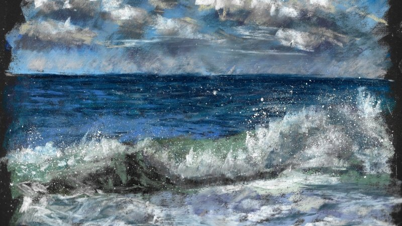 Seascape in soft pastels