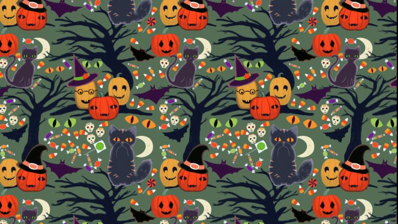 Whimsical Halloween Pattern