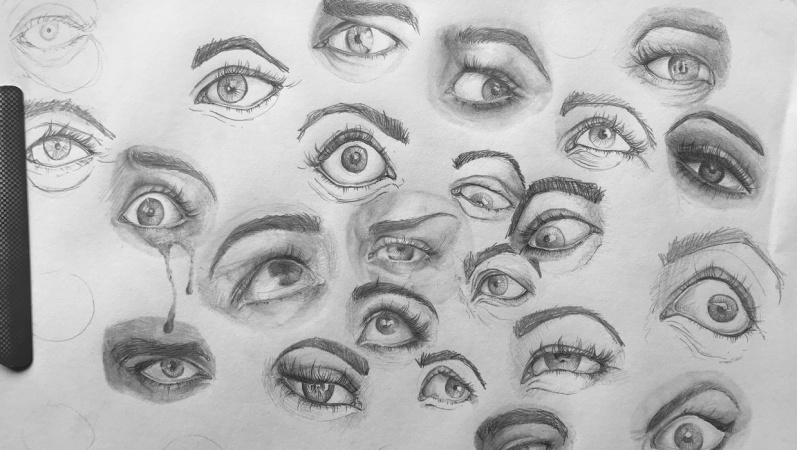 Expressive eye sketches