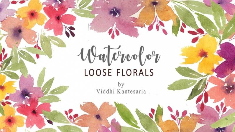 Watercolor- loose florals