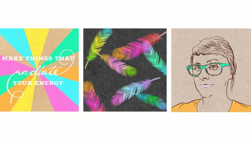 4 Digital Pastel Drawings Made on iPad in Procreate