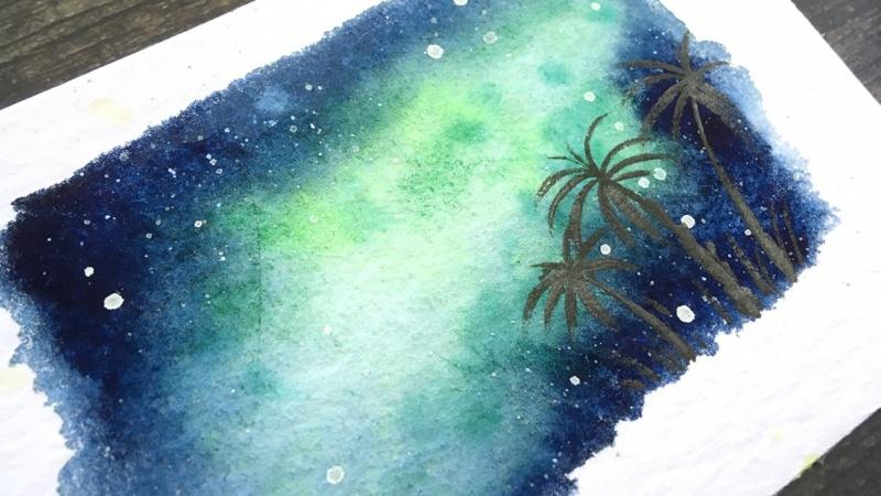 Tropical Milky way galaxy