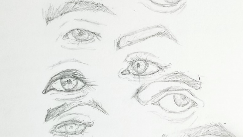 Practice - drawing eyes