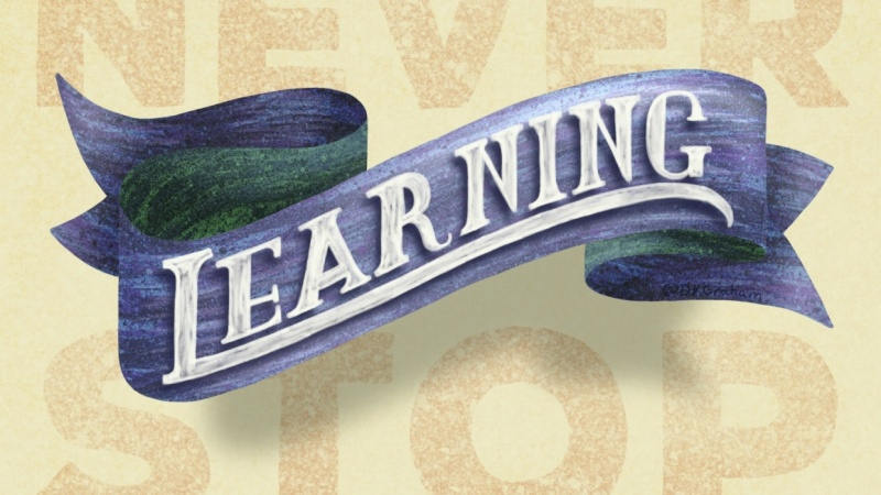 3D Banner - Never Stop Learning