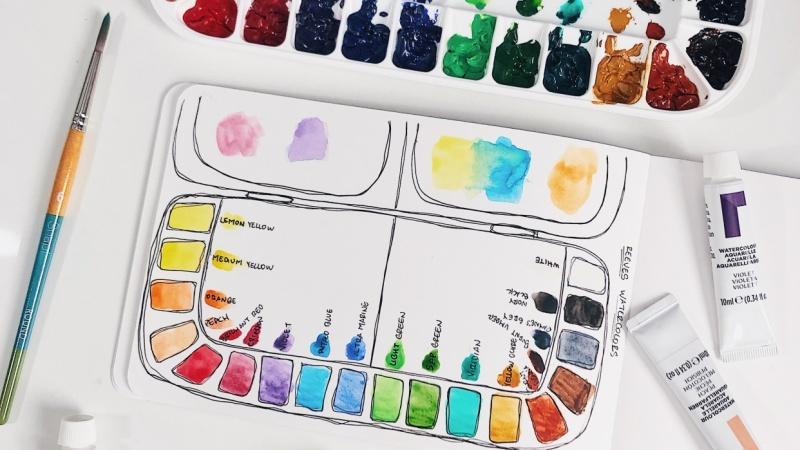 Reeves Watercolors palette