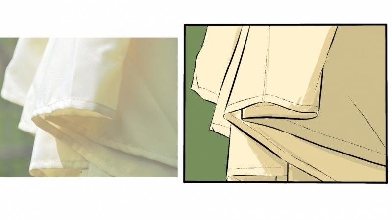 Drawing Hanging Cloth