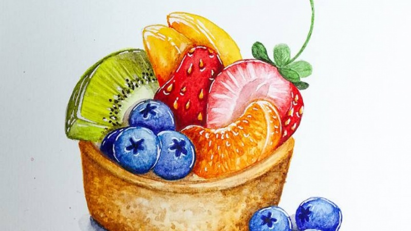 Tart with fruits