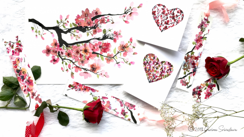 Watercolor Cherry Blossoms: 3 Fun and Easy Projects