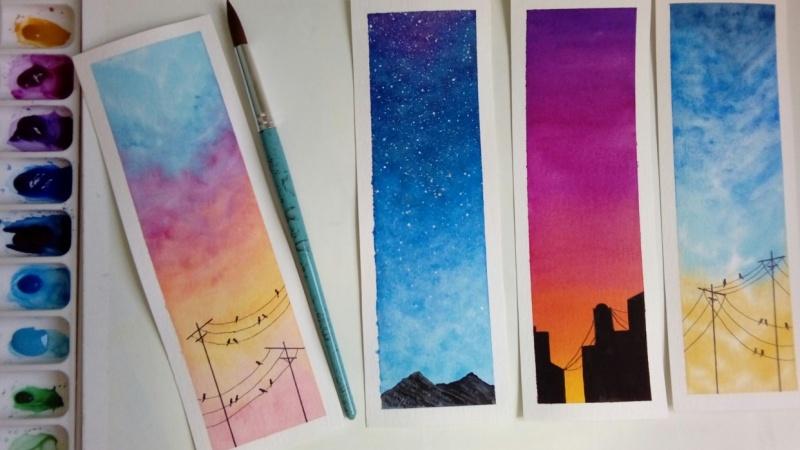 Watercolor skies