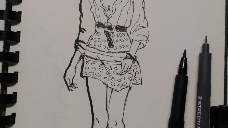 Fashion sketch rebound