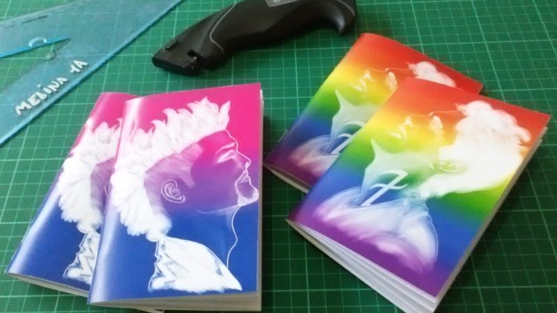 A6 Notebooks with my fanart on the cover...