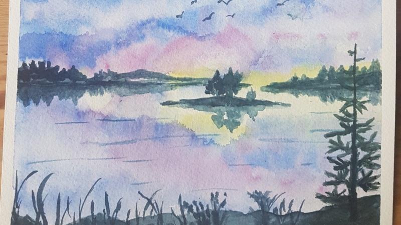 Islands in Sunset