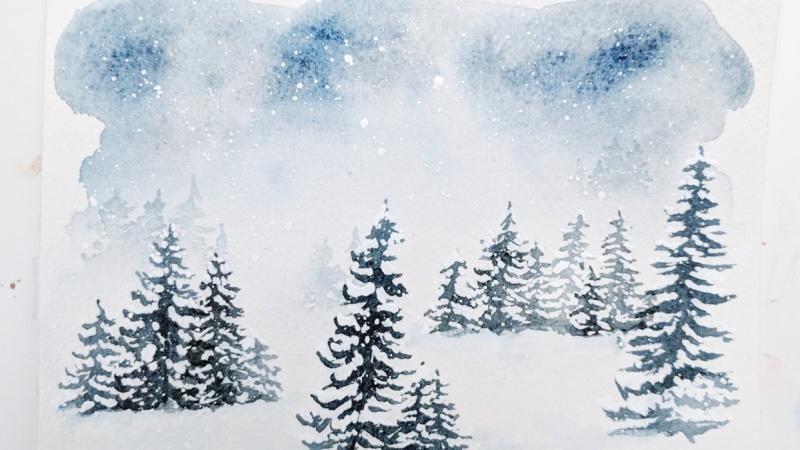 A snowy blizzard