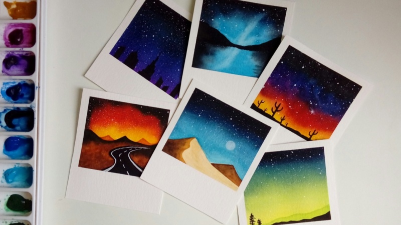 Watercolor Galaxies