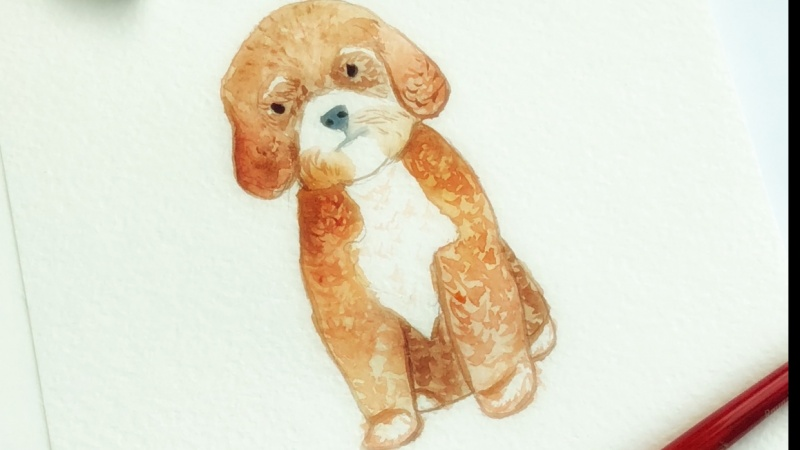 Watercolor baby animal