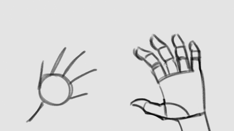 Hands from start to end