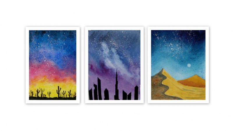Fun and Easy Watercolour Galaxies