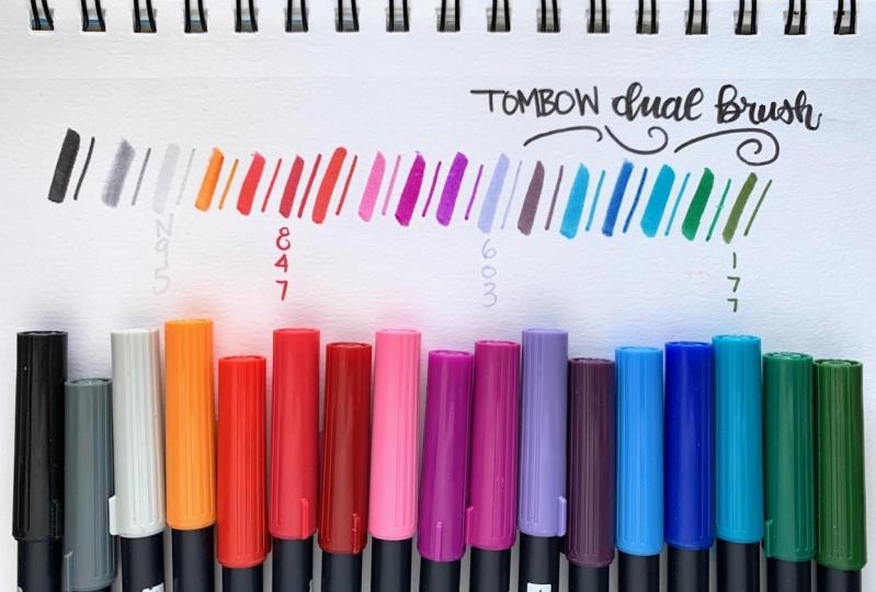Tombow Dual Brush Pens - swatch sheet!