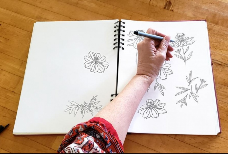 Sketchbook study life on the farm