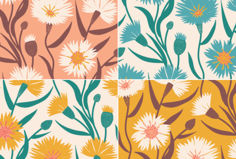 Cornflowers (re-colouring)