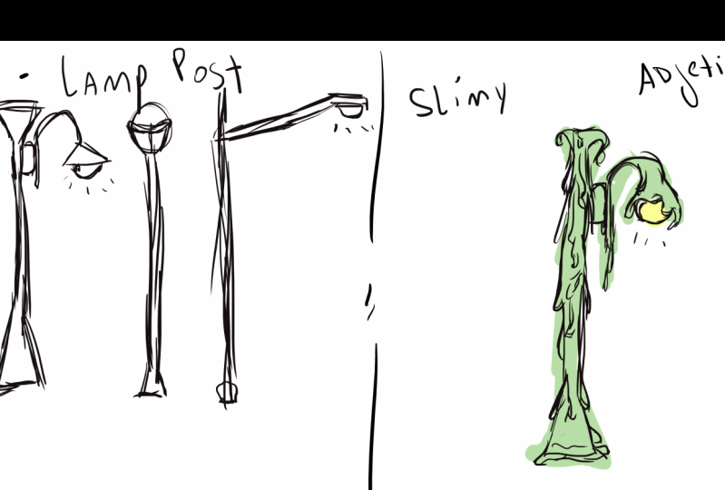 Postly - Dancing slimy lamp post