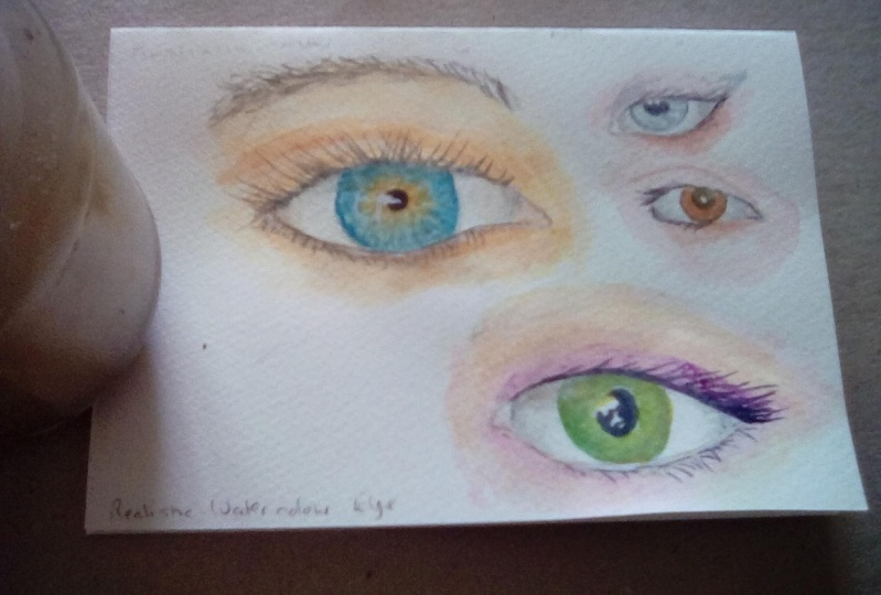 Realistic watercolour eyes