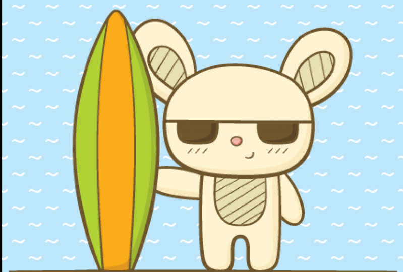 Surfing Bunny