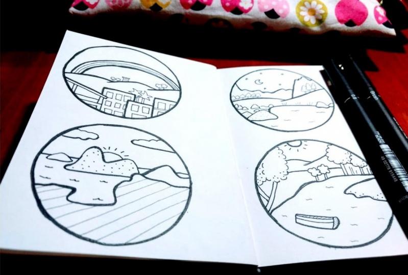 Minimal Landscape Illustrations