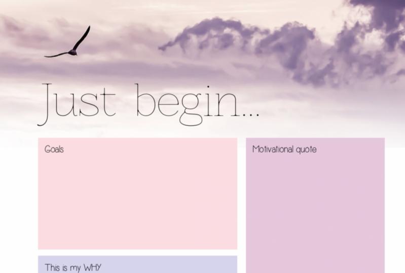 Just begin...