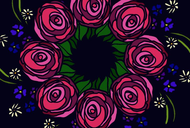 first rose wreath