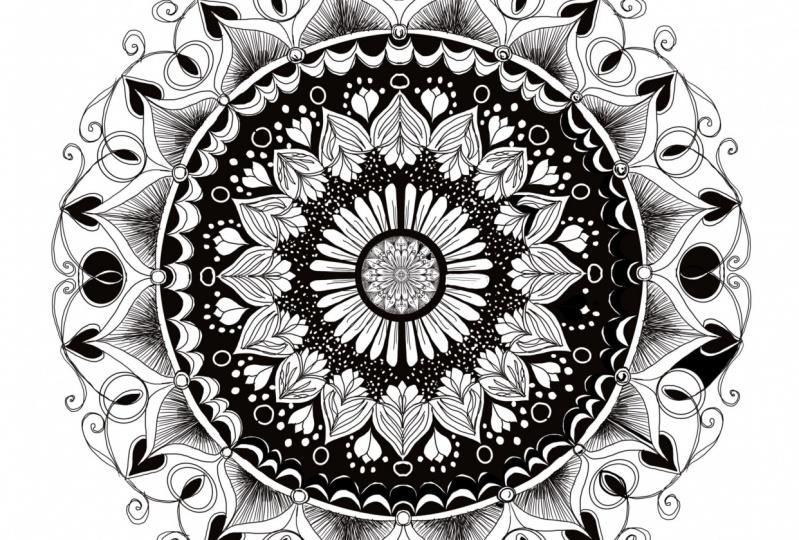 Monochromatic Mandala