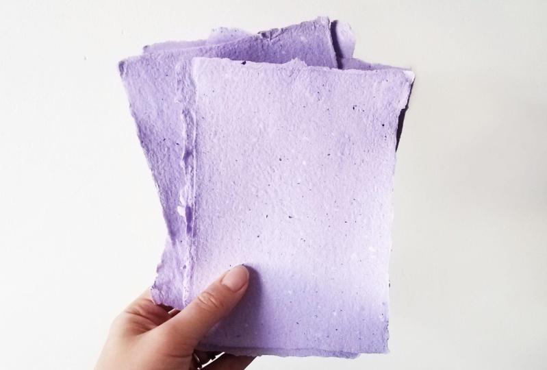 Lavender Handmade Paper