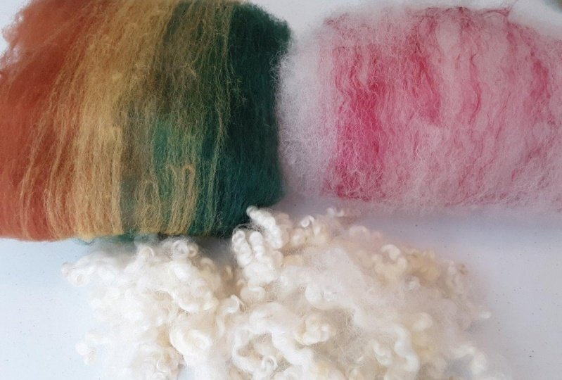 Custom batts made on a drum carder