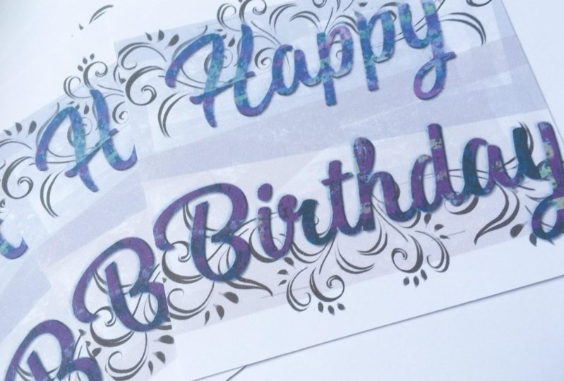 A sparkling birthday card and a few more ideas