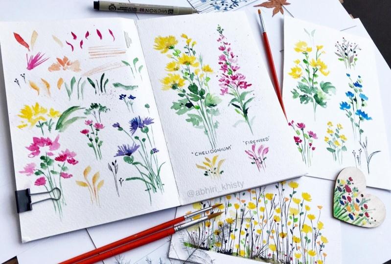 Wildflowers from Skillshare class by Sushma Hegde