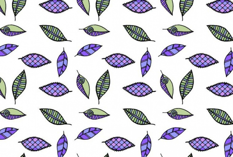 Color ways for the leaves pattern