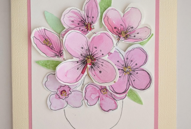 Repurposed watercolor art