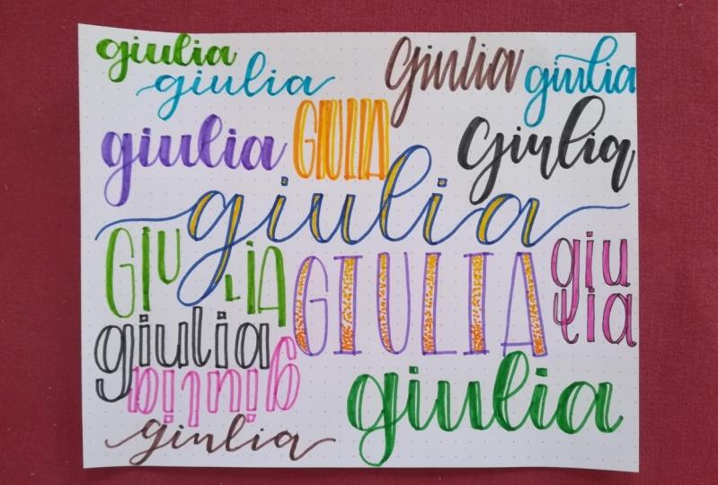 Faux calligraphy - Giulia