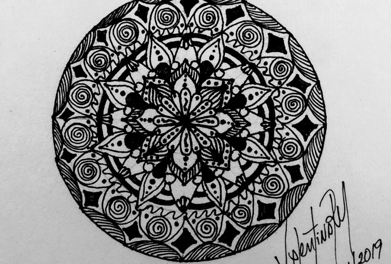 Black and White mandala 1