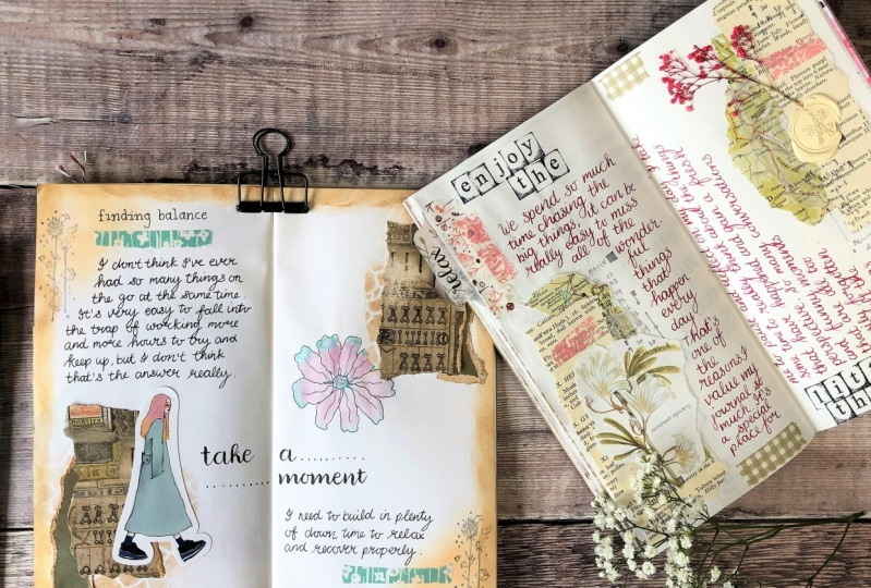 Vintage Style Journal Pages